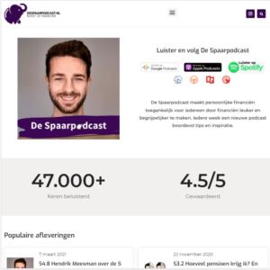 Spaarpodcast pagina